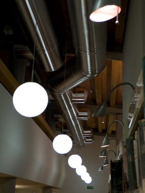 codroipo, library lights
