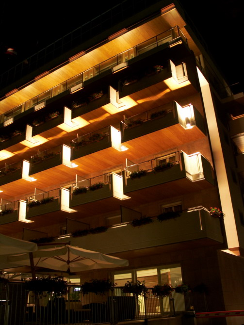 lignano, hotel by night