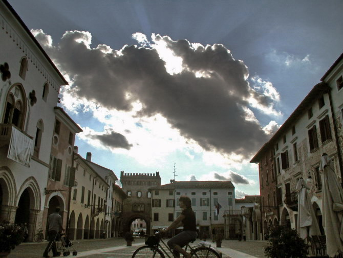 san vito, square and clouds
