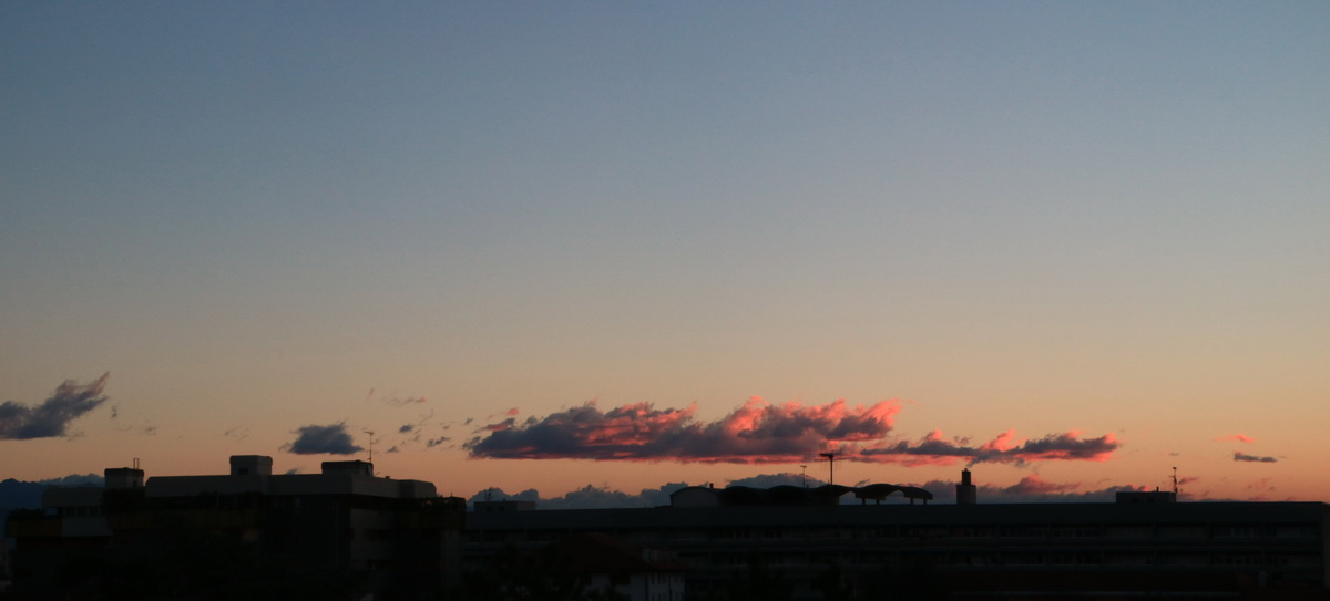 udine, dawn and clouds